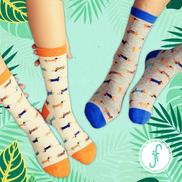Calling All Dog Lovers  A Variety of Printed Long Dog Socks – Jungle Fam fc9b06474