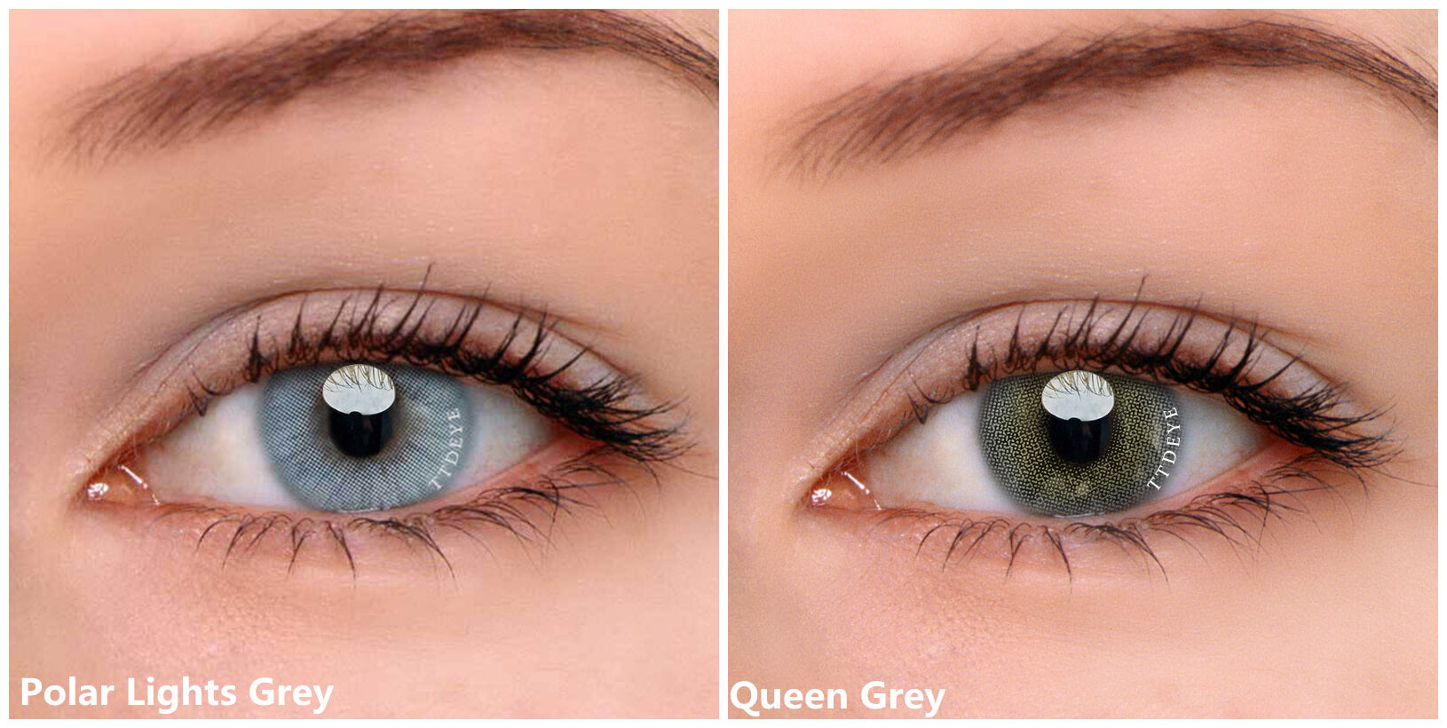 TTDeye Queen Grey and Polar Lights Grey Contacts