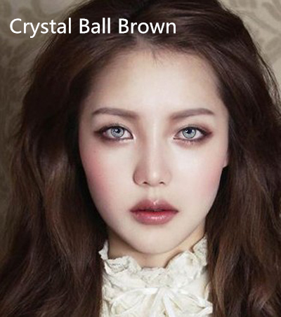 TTdeye crystal ball brown contacts