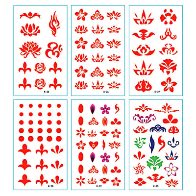 TTDeye Red Lotus 30 Piece Tattoo Stickers