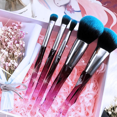 Crystal Makeup Brushes Set