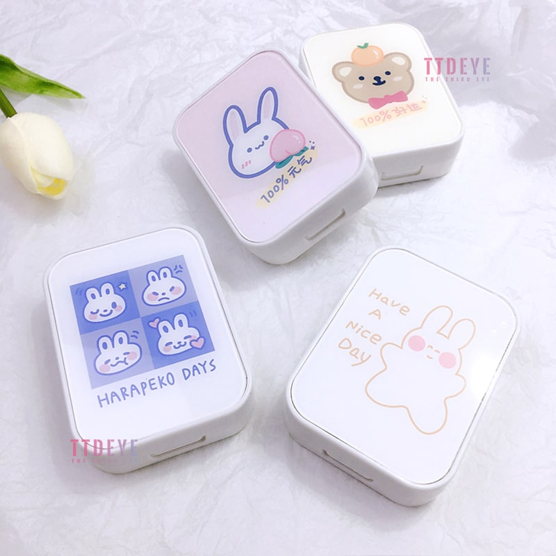 TTDeye Lucky Bear And Vigorous Bunny II 2-in-1 Lens Case