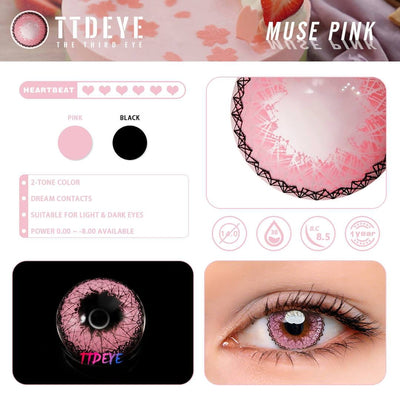 TTDeye Muse Pink Colored Contact Lenses