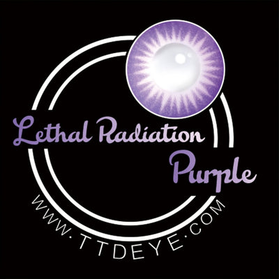 TTDeye Lethal Radiation Purple Colored Contact Lenses