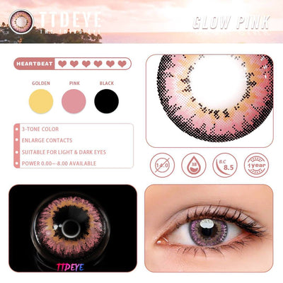 TTDeye Glow Pink Colored Contact Lenses