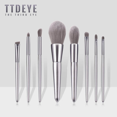 TTDeye Silverware 8 Piece Brush Set