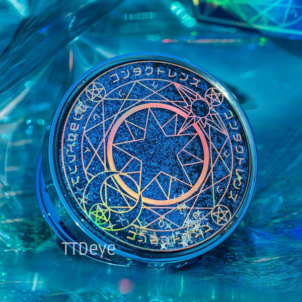 TTDeye Magic Circle Lens Case - Blue - Outside