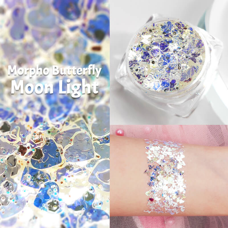 TTDeye Morpho Butterfly Moon Light Glitter Gel
