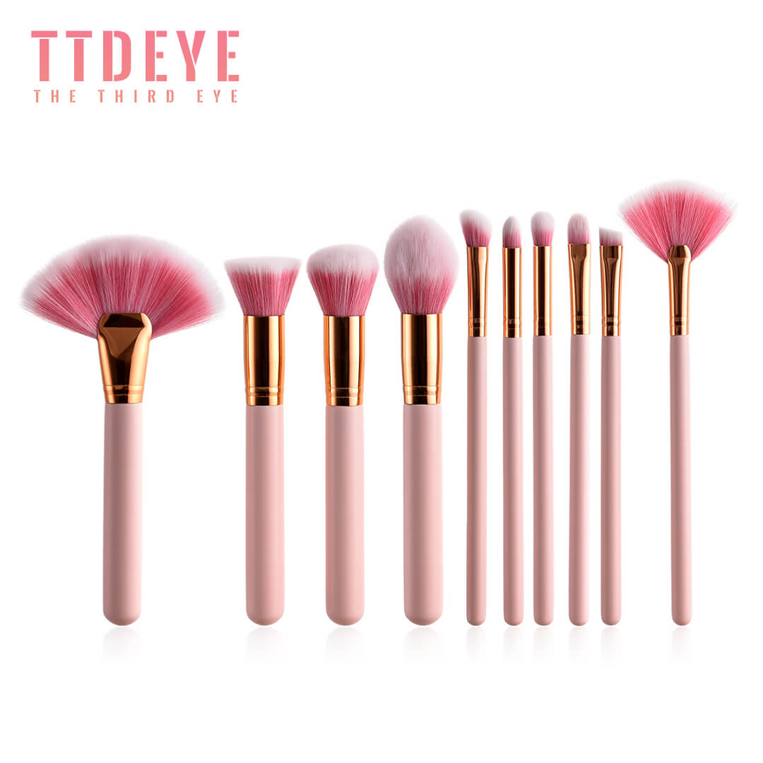 TTDeye Fan Dance II 10 Piece Brush Set