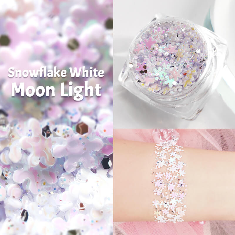 TTDeye Snowflake White Moon Light Glitter Gel