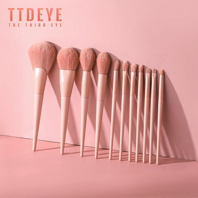 TTDeye Afternoon Tea in Paris 11 Piece Brush Set