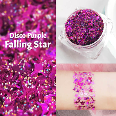 TTDeye Disco Purple Falling Star Glitter Gel