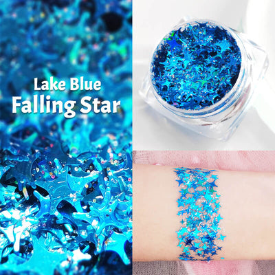 TTDeye Lake Blue Falling Star Glitter Gel