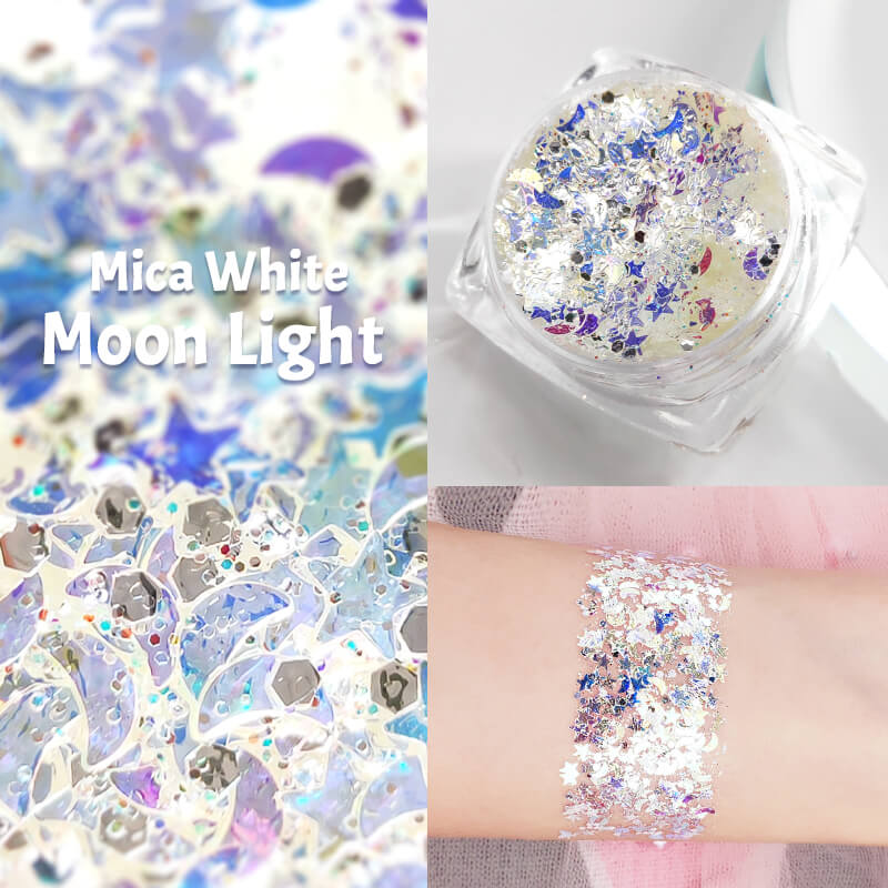 TTDeye Mica White Moon Light Glitter Gel