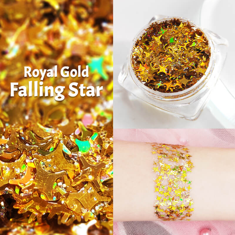 TTDeye Royal Gold Falling Star Glitter Gel