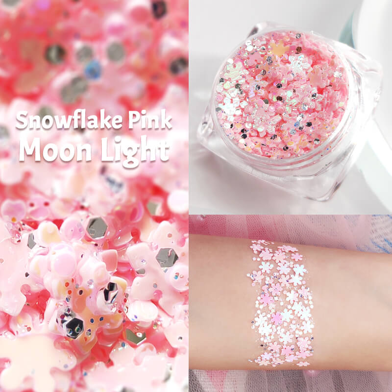 TTDeye Snowflake Pink Moon Light Glitter Gel