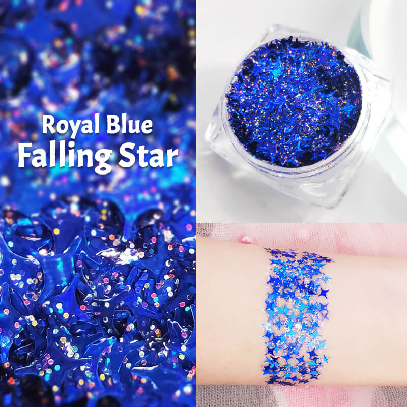 TTDeye Royal Blue Falling Star Glitter Gel