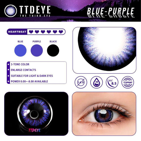 TTDeye Blue-Purple Colored Contact Lenses
