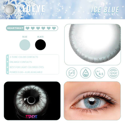 TTDeye Ice Blue Colored Contact Lenses