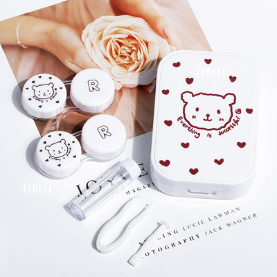 TTDeye Cartoon Bear 2-in-1 Lens Case