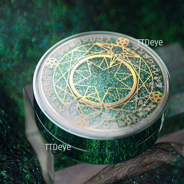 TTDeye Magic Circle Lens Case - Green - Outside