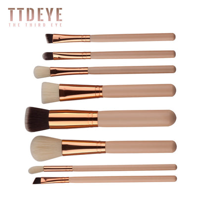 TTDeye Golden Age 8 Piece Brush Set