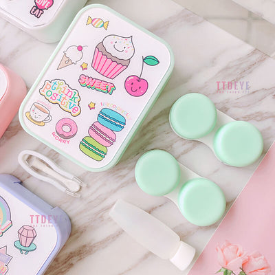 TTDeye Rainbow Stickers 2-in-1 Lens Case