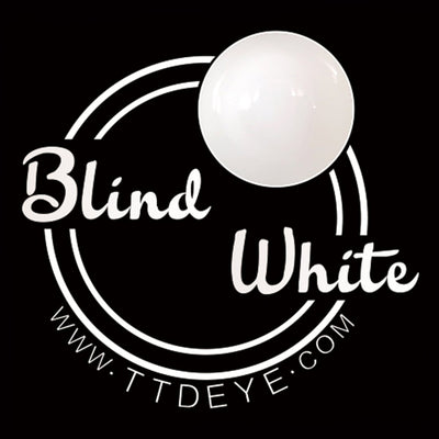 TTDeye Blind White Colored Contact Lenses