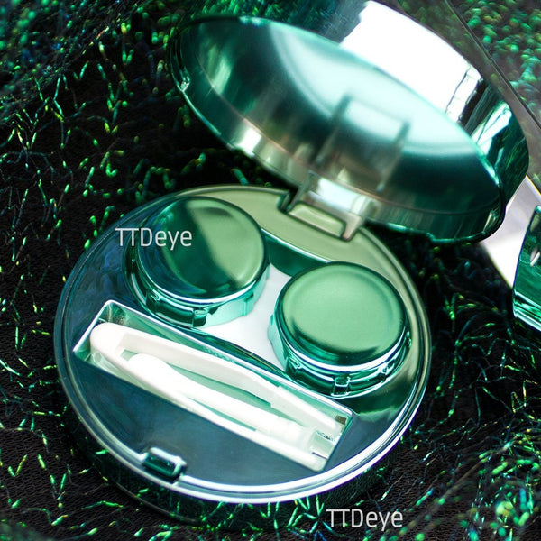 TTDeye Magic Circle Lens Case - Green - Inside