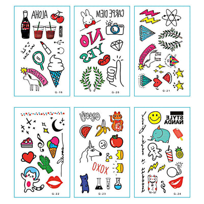 TTDeye Little Happiness 30 Piece Tattoo Stickers