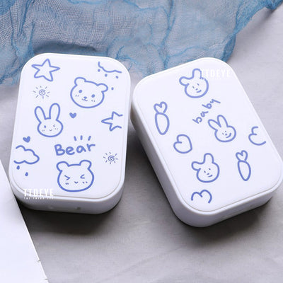 TTDeye Blue Rabbit And Bear 2-in-1 Lens Case