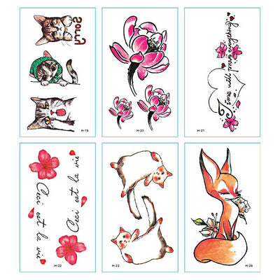 TTDeye Baby Kitten 30 Piece Tattoo Stickers