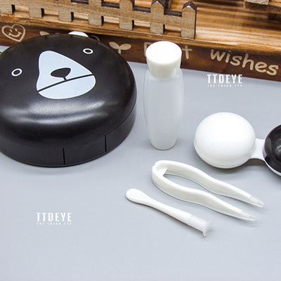 TTDeye Black And White Bear Lens Case