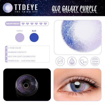 TTDeye Galaxy Purple Colored Contact Lenses