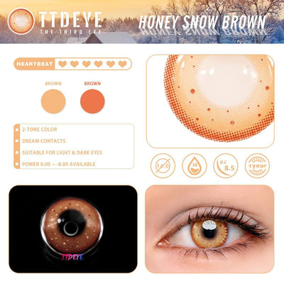 TTDeye Honey Snow Brown Colored Contact Lenses