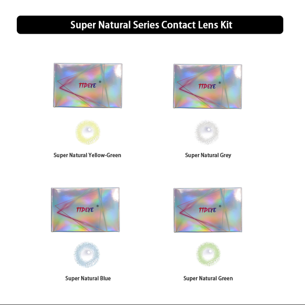 TTDeye Super Natural Series Contact Lens Kit