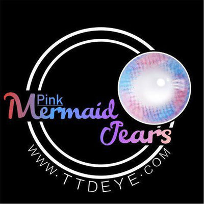 TTDeye Mermaid Tears Pink Colored Contact Lenses
