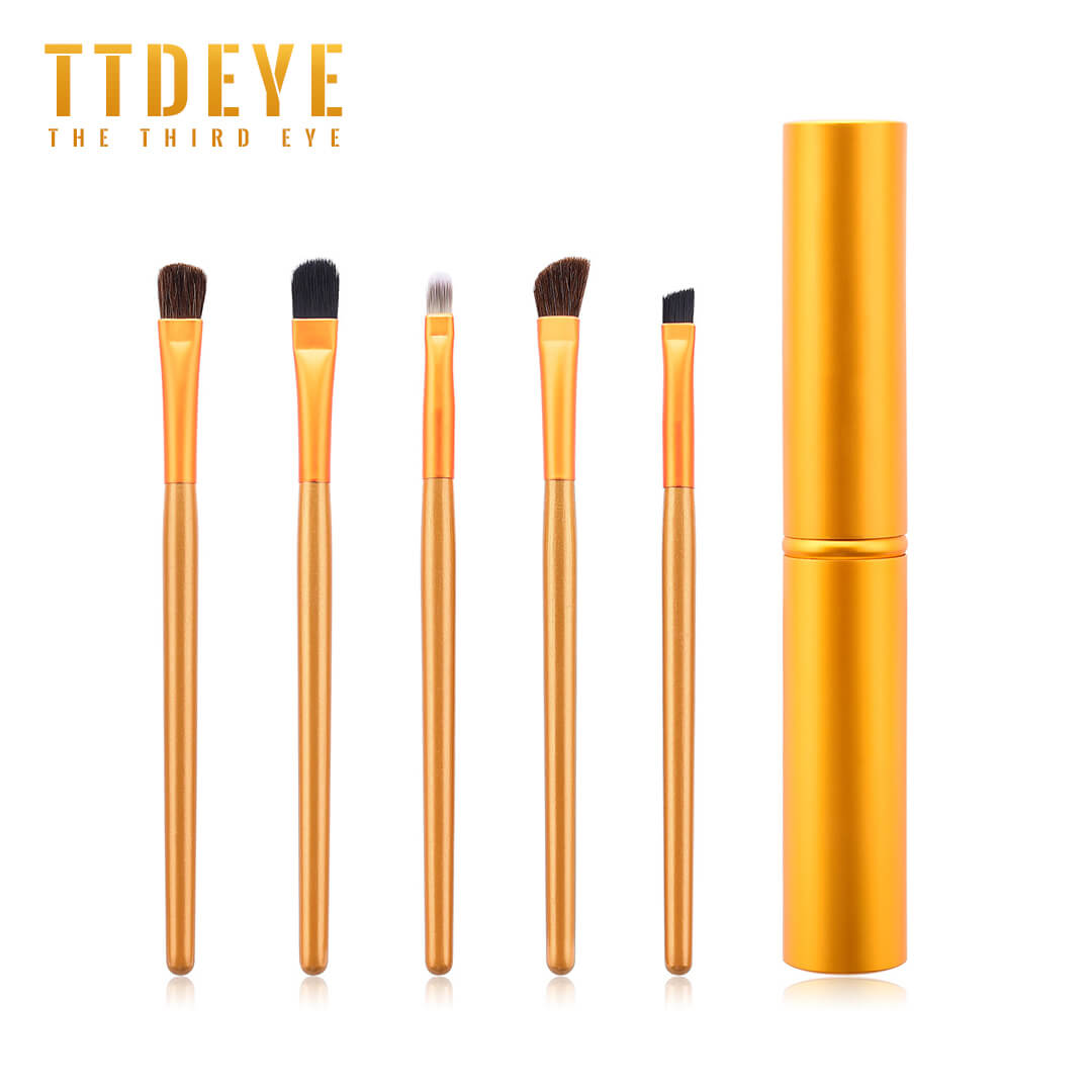 TTDeye Mosaic Gold 5 Piece Eye Brush Set
