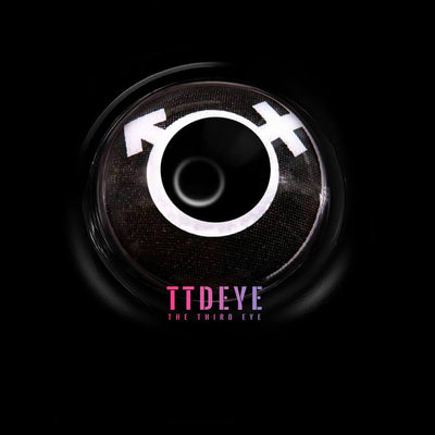 TTDeye AC-DC Black-White Colored Contact Lenses