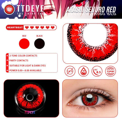 TTDeye Akashi Seijuro Red Colored Contact Lenses