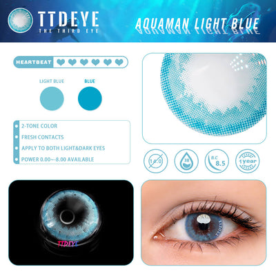 TTDeye Aquaman Baby Blue Colored Contact Lenses