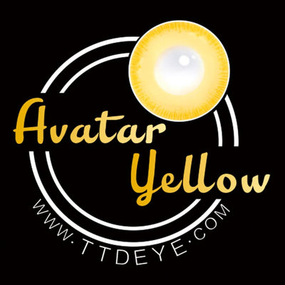 TTDeye Avatar Yellow Colored Contact Lenses