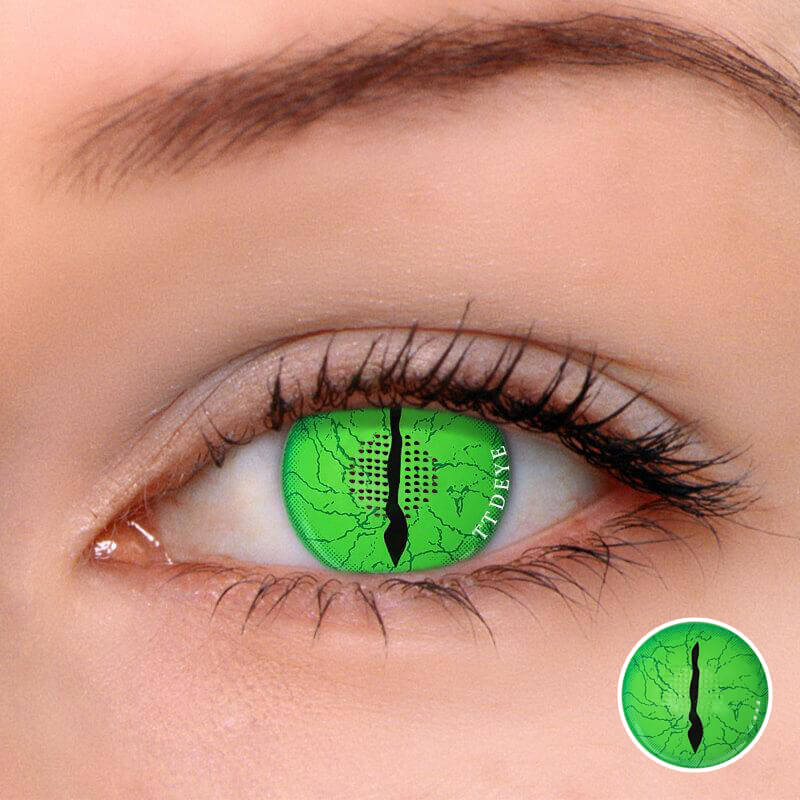 TTDeye Awaken Demon Green Colored Contact Lenses