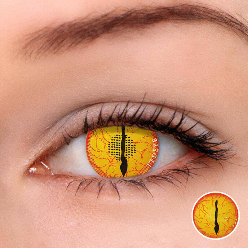 TTDeye Awaken Demon Yellow Colored Contact Lenses