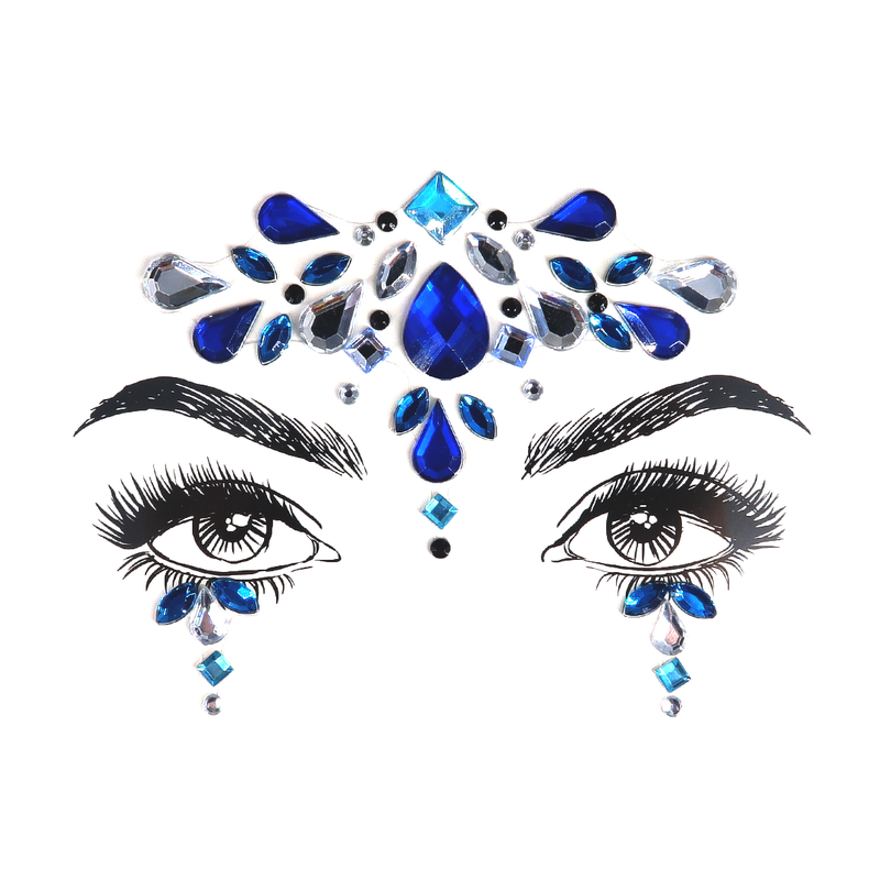 Face Jewels -Blue