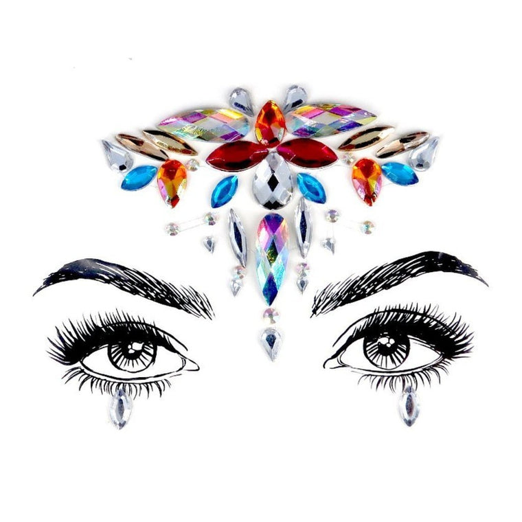 Crane Queen Rhinestone Crystal Face Jewels