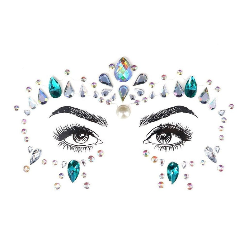Drama Queen Rhinestone Crystal Face Jewels