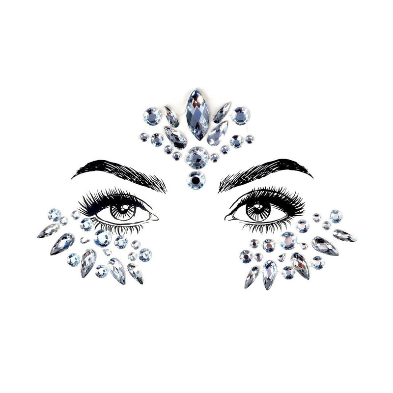 Snow Queen Rhinestone Crystal Face Jewels