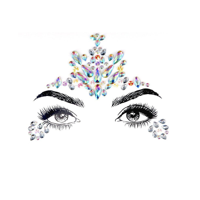 Noble Girl Rhinestone Crystal Face Jewels