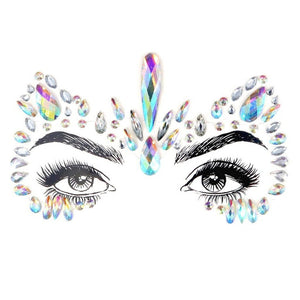 Dancer Rhinestone Crystal Face Jewels